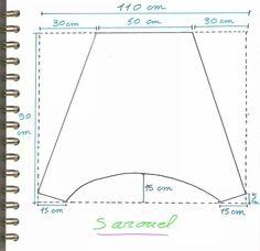 Материалы: - 2 части ткани (предпочтительно хлопка жидкости, не стретч) каждого 110x90 см - 2 штук эластичным Джерси 25x37 см каждый - 25 см резинкой (широкий предпочитают ленту около 1 см) - нить, игла ...