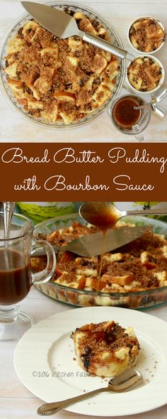 Recipe for classic bread butter pudding with a little variation. Served with a Bourbon whiskey sauce. This is a light dessert that can be served warm or cold.  http://www.kitchenfables.com/classic-bread-butter-pudding-with-bourbon-sauce-recipe