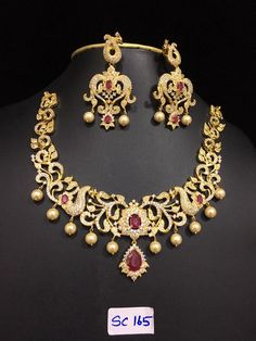 Grand Ad Stones Necklace 3000 To 4500 Indian Jewellery Designgold
