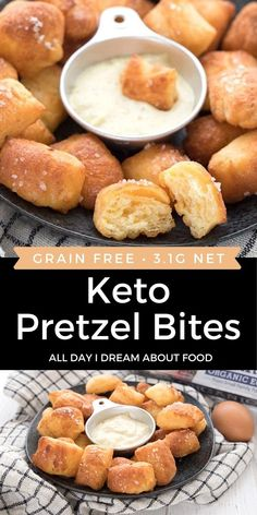 These tender keto pretzel bites are made with coconut flour fathead dough. Totally nut-free, not to mention absolutely delicious! Make them in your air fryer or your oven.
