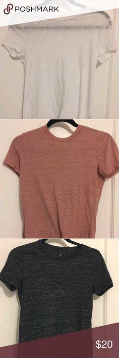 Cute top bundle! Sheer lightweight top bundle. Pink, black, and white. Would look super cute with bralette underneath. Brand new condition, never worn!! All tops have the same cut and fit, all with a burnout design. Aeropostale Tops Tees - Short Sleeve