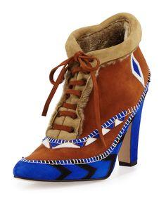Manolo Blahnik Eskima Suede Moccasin Ankle Boot, Francia Blue, Size: 9.5B/39.5EU