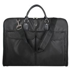 WORTHFIND  Business Dress Garment Bag  Black Nylon Clamp  Durable Men'S Travel Bag