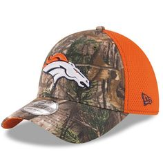 Men s Denver Broncos New Era Realtree Camo Neo 39THIRTY Flex Hat 38342acf0