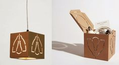 Not a Box: Packaging and Lamp by David Graas Not a Box: Packaging y lámpara de David Graas