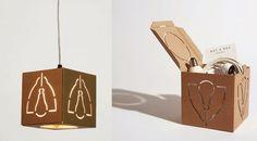Una selección de objetos de diseño elaborados en cartón reciclado