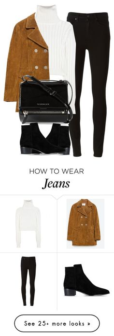 """Untitled #3933"" by london-wanderlust on Polyvore featuring Paige Denim, Calvin Klein Collection, Zara and Givenchy"