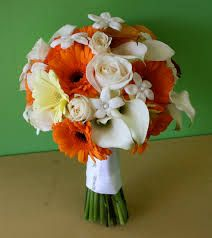 Image result for orange wedding flowers