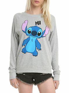 Disney Lilo & Stitch Hi & Bye Girls Pullover Top   Hot Topic