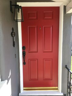 There are many ways to choose the perfect paint color. Our experts help you navigate color families and collections to find the right colors for your home. Doors, Paint Colors For Home, Home Doors, Red Front Door, Exterior Doors, House Design, Front Door Colors, Red Curtains Bedroom, Discount Living Room Furniture