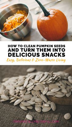 Pumpkin seeds are packed with nutrients, and with a little seasoning, you can turn them into delicious and healthy snacks that you won't stop eating. If you want the maximum health benefits, you can enjoy them raw! That is right. You can clean the pumpkin seeds and just enjoy them as they are. Healthy Appetizers, Yummy Snacks, Healthy Snacks, Yummy Food, Healthy Gluten Free Recipes, Real Food Recipes, Keto Recipes, Soup Recipes, Stop Eating