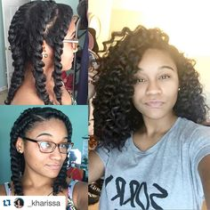 """Yes! Love it sissy ➰➰#NRSistaFeature @_kharissa ・・・ Literally the only flat twist out I've ever done that actually worked ! Thank you , Hair Gods """