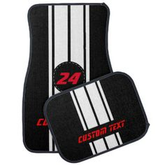 green car floor mats. Perfect Car White Double Race Stripes  Personalize Floor Mat Intended Green Car Mats
