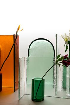 Bouroullecs create range of painterly glass objects for Wonderglass