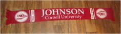 Cornell University Big Red Scarf -Long Autumn Winter Wear FREE SHIPPING