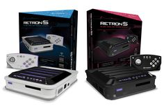 "The Retron is back! Hyperkin's follow-up to the Retron3 now expands its compatibility up to 7 consoles. Powered by Android, the Retron now has HD output, interpolated sound and save states!  Wait, what? Seven? But it says ""5"" right there on the box? Well, with a pass-through adapter it's actually possible to play Master System games on this machine. So to sum it up: It plays NES/Famicom, SNES/Super Famicom, Mega Drive, Master System, Game Boy, Game Boy Color and Game Boy Advance. Have fun."