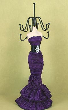 Mannequin Doll Stand Jewelry Holder with Fabric Dress