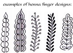 henna finger design ~ why not Zentangle?