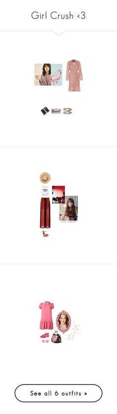 """""""Girl Crush <3"""" by zlata ❤ liked on Polyvore featuring Edie Parker, Pink, Clutch, neutrals, gloves, Gucci, strawhat, croppedTop, widepants and RED Valentino"""