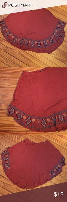 F21 poncho F21 burnt orange poncho with native details ONE SIZE (S/M) Forever 21 Jackets & Coats Capes