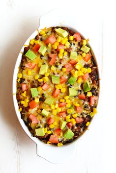 Healthy Chicken Burrito Bowl Casserole - Fit Foodie Finds