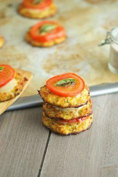 Cauliflower crust pizzettes