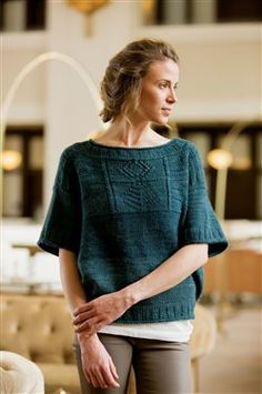 Eastbound Sweater by Courtney Kelley - Interweave Knits Spring 2015