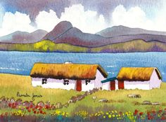Original Watercolour....Connemara Cottage by Pamelajonesartstudio, £20.00