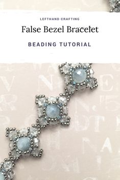 """False Bezel Bracelet. This is pattern for a beaded bracelet made from round beads, bicones, seed beads. Please click on the """"Visit"""" button to get this tutorial."""