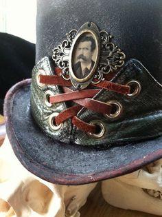Steampunk Gentleman's Distressed Top Hat by Opergeist on Etsy, $130.00