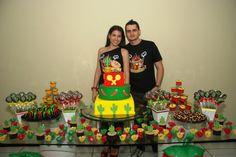 bolo e decoração