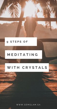 9 Simple Steps To Meditate With Crystals  meditate // third eye // chakra // crystal healing // meditate with crystals // meditation // how to meditate // meditate for beginners // meditate guide // crystals for meditation // amethyst // clear quartz // cathedral quartz // celestite // lapis lazuli //