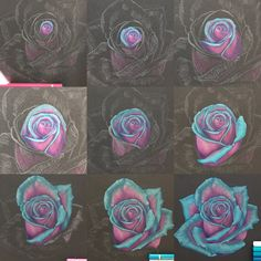 Pencil Drawing Techniques Turquoise Rose from start to finish Black Paper Drawing, Floral Drawing, Drawing Flowers, Rose Petals Drawing, Colour Pencil Shading, Color Pencil Art, Colour Drawing, Colored Pencil Artwork, Coloured Pencils