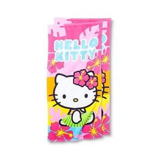 Hello Kitty Beach Towel - 2-pk., Multi-Colored ($22) ❤ liked on Polyvore featuring home, bed & bath, bath, beach towels, hello kitty, hello kitty beach towel and cotton beach towels