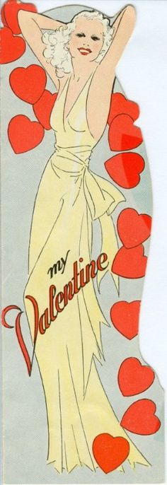 hollywood vintage valentine photographs | wish they still made cards like this today!