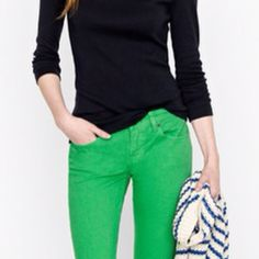 Colourpop jeans (in my fav green) that brightens up a simple outfit