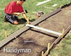 Building a concrete walkway