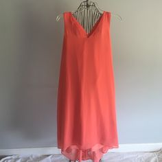 Midi dress Peach with tie on the back Dresses Midi