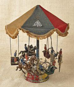 German tin wind up carousel,