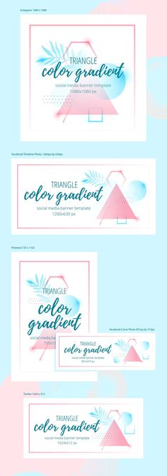 Abstract geometric banner templates vol. 02 Vector illustration of colorful vivid abstract gradient geometric banner. Banner Template, Ppt Template Design, Templates, Social Media Banner, Social Media Template, Social Media Design, Typography Layout, Graphic Design Typography, Facebook Timeline Photos