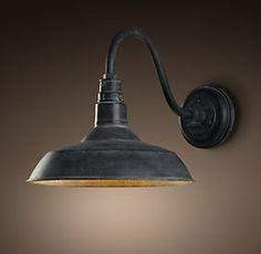 Restoration hardware outdoor sconce- barn light