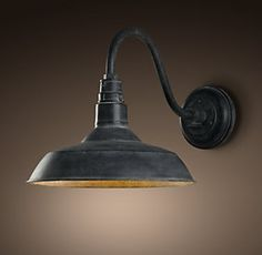 Restoration hardware outdoor sconce- barn light