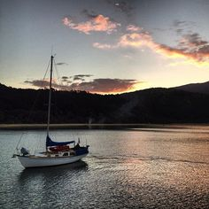 A night on the boat, peaceful cove, sky stitched with stars -- Anchorage, Abel Tasman NP.