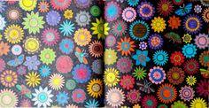 Flores. Página dupla. Jardim Secreto. Flowers. Double page. Secret Garden.  Colorido com canetinha. Nono colorido. #jardimsecreto #flores