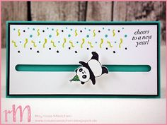 Stampin 'Up! Pink Girls Kulmbach: Stamp Impressions Blog Hop: Cheers to the new year: Kullerkarte with party pandas Cheers to the Year and We must celebrate