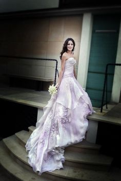 Look élégant - robe de mariage pourpre
