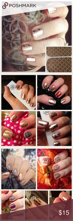 Jamberry Nail Wrap October 2014 host exclusive BUY 6 OR MORE 1/2 SHEETS they become ONLY $5 A 1/2 SHEET (excludedJuniors,rare/exclusive) rare/exclusive in ur bundle u will get a different discount on them This is 4 a half sheet of the wrap featured on the 1st pic. Other pics w/different wraps show the mix look Due 2 feedback from our customers all JAMBERRY sheets as 1/2 sheets. you 2 have more versatility 4 making bundles 2 purchase more designs on a budget 1/2 SHEET GIVES U 1 manicure 1…