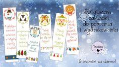 Świąteczne zakładki do książek. Drukujcie i korzystajcie do woli! | Christmas bookmarks