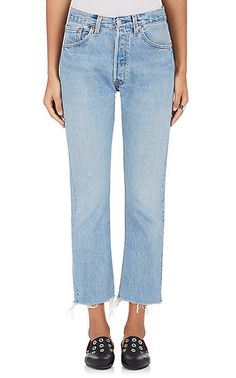 RE/DONE High Rise Crop Flare Jeans - Jeans - 504192576