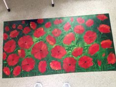 "ART STUIDO ON 6th 1577 6TH AVE. NORTH  248-1372 Walking On Art Floor mats, art to walk on. All sizes, subjects and colors. This is called, WALKING ON POPPIES"" M.V.P. Bodettes"